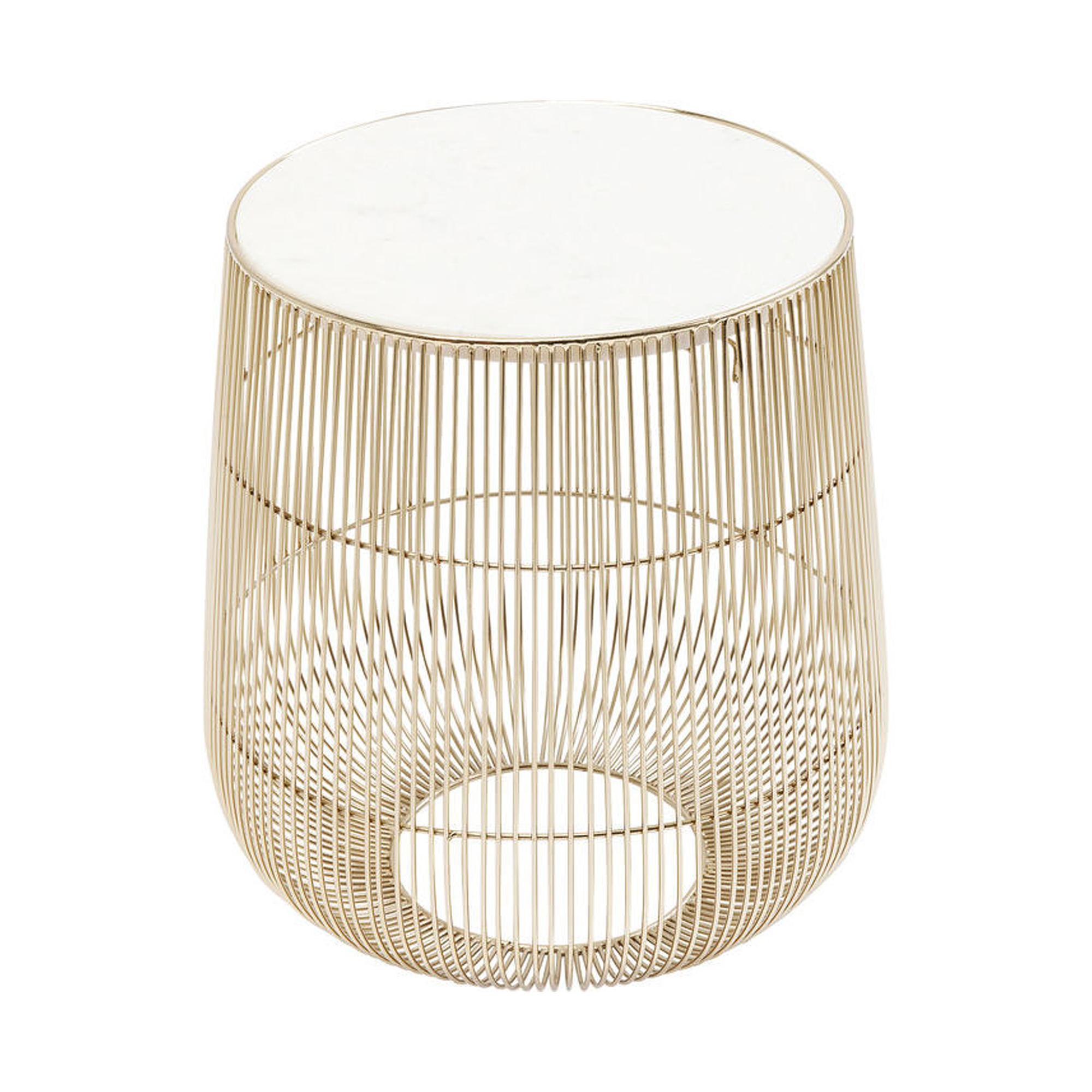 Beistelltisch Beam Weiss Marmor   Möbel Preiss