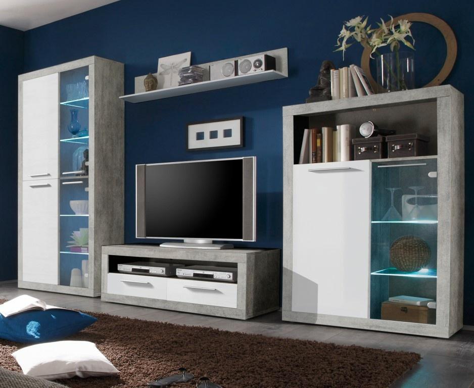 wohnwand stone m bel preiss. Black Bedroom Furniture Sets. Home Design Ideas