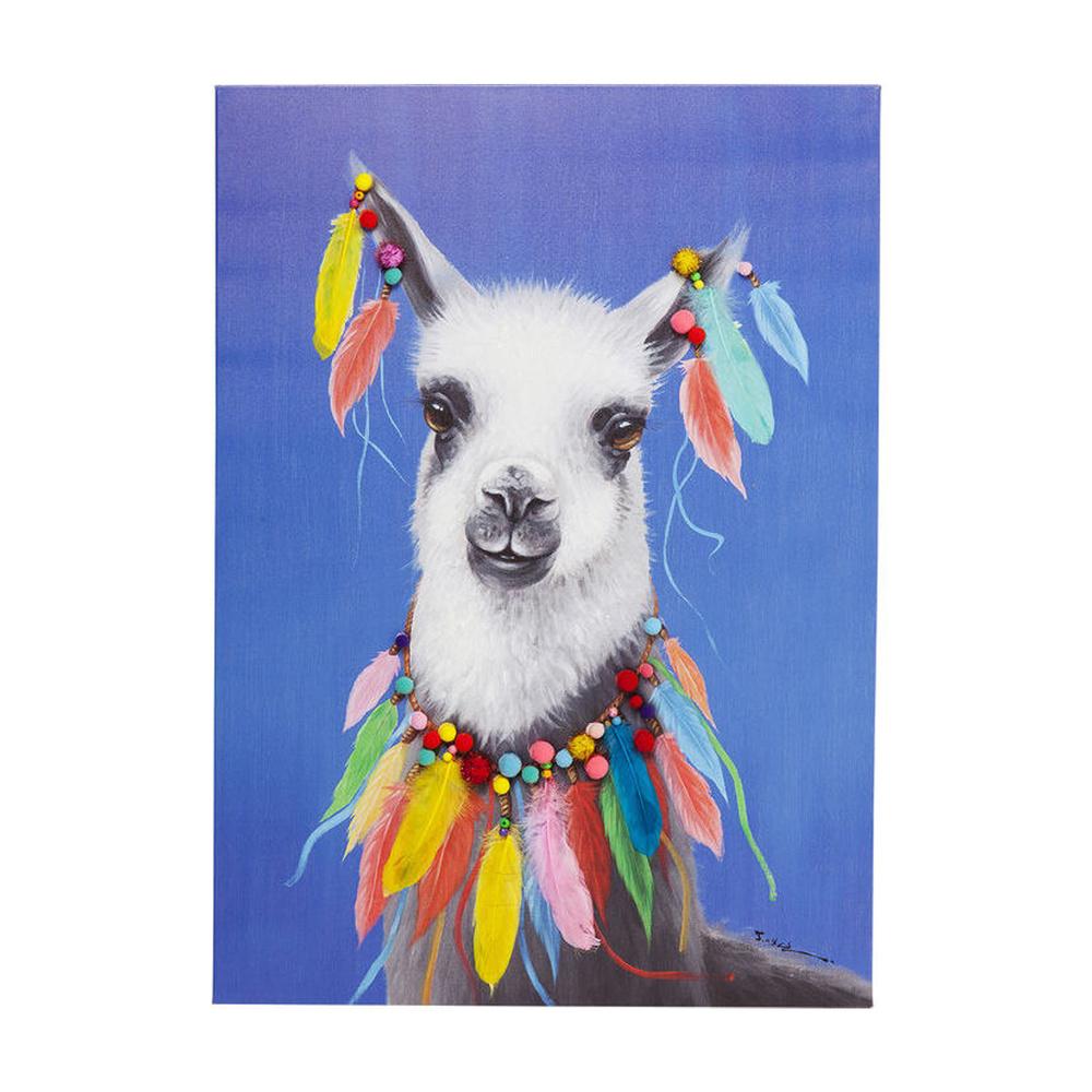 Kare Design Wandbild Lama Pom Pom Möbel Preiss