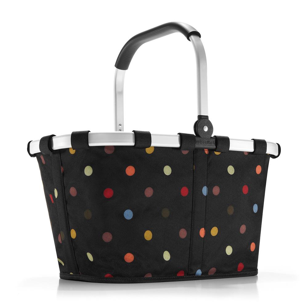 Reisenthel carrybag dots schwarz bunte punkte for Bunte stehlampen