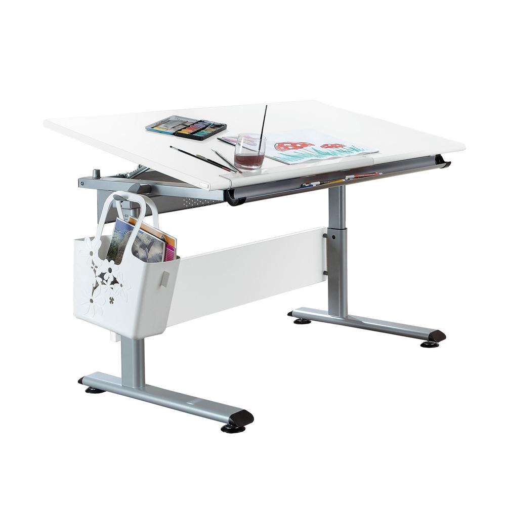 Genial Schreibtisch Marco 2 Beste Wahl Gestell Silberfarbig, Platte Ecru, Ca. 120 X